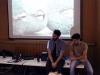 Un momento del workshop in aula