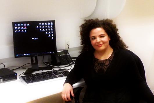 Laura De Felice negli uffici di Yves Saint Laurent a Parigi