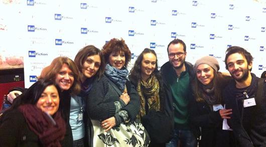 Studenti del Master in Multimedia con l'attrice Veronica Pivetti a Screenings in Florence