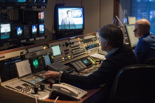 Gli studi video della sede RAI di Firenze